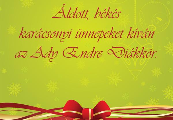 Áldott ünnepeket kívánunk mindenkinek!