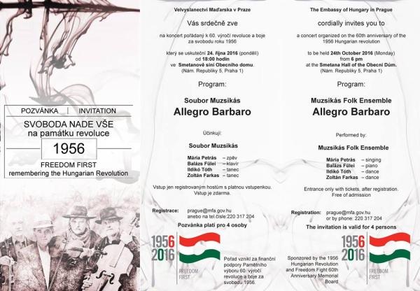 Prága / Nemzeti ünnepi koncert a Muzsikással