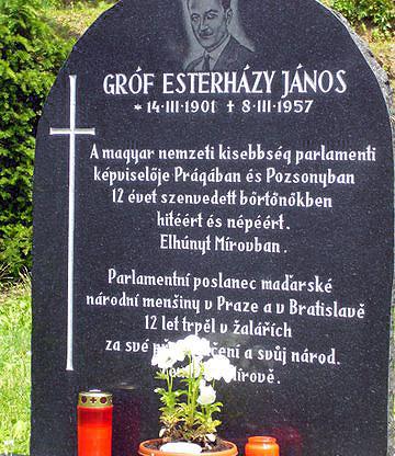 Olomouc-Mírov / Megemlékezés gróf Esterházy János tiszteletére